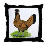Gold Brabanter Hen Throw Pillow