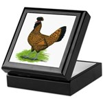 Gold Brabanter Hen Keepsake Box