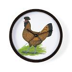 Gold Brabanter Hen Wall Clock