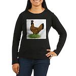 Gold Brabanter Hen Women's Long Sleeve Dark T-Shir