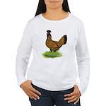 Gold Brabanter Hen Women's Long Sleeve T-Shirt