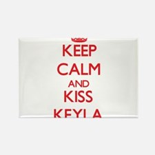 Keep Calm and Kiss Keyla Magnets