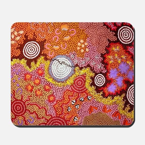 AUSTRALIAN ABORIGINAL ART Mousepad