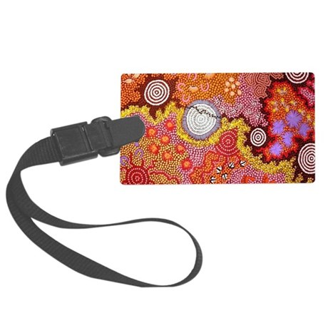 AUSTRALIAN ABORIGINAL ART Large Luggage Tag
