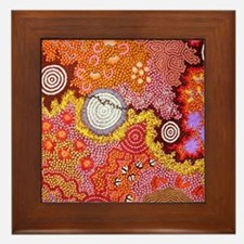 AUSTRALIAN ABORIGINAL ART Framed Tile