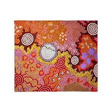 AUSTRALIAN ABORIGINAL ART Throw Blanket