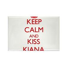 Keep Calm and Kiss Kiana Magnets