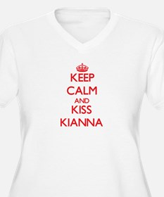 Keep Calm and Kiss Kianna Plus Size T-Shirt