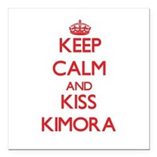 "Keep Calm and Kiss Kimora Square Car Magnet 3"" x 3"