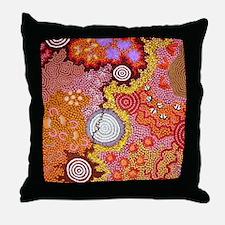 AUSTRALIAN ABORIGINAL ART 2 Throw Pillow