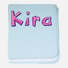 Kira Pink Giraffe baby blanket