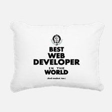 Best Web Developer in the World Rectangular Canvas