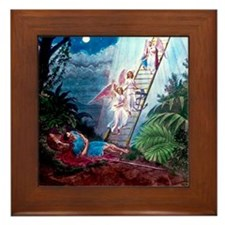 Jacobs Ladder Magic Lantern Slide Framed Tile