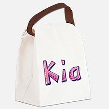 Kia Pink Giraffe Canvas Lunch Bag