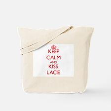 Keep Calm and Kiss Lacie Tote Bag