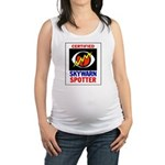 Skywarnlogo wide border Maternity Tank Top