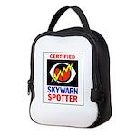 Skywarnlogo wide border Neoprene Lunch Bag