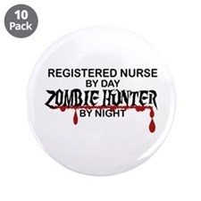 """Zombie Hunter - RN 3.5"""" Button (10 pack)"""