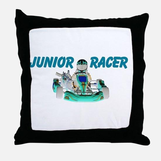 Junior Racer Throw Pillow