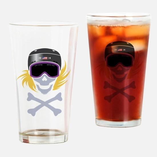 Lil' Snowboarder Skully Drinking Glass