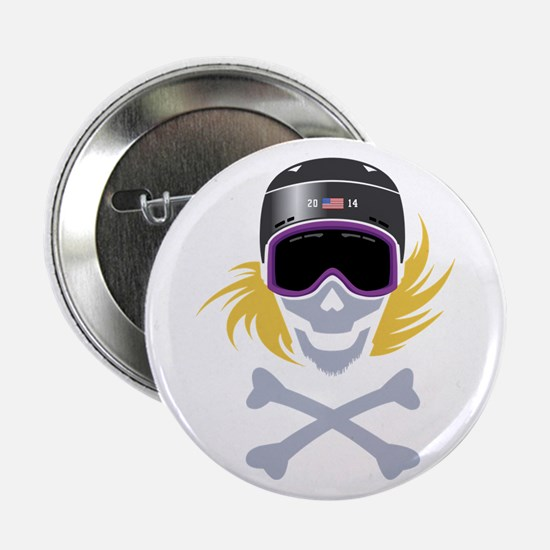 """Lil' Snowboarder Skully 2.25"""" Button"""