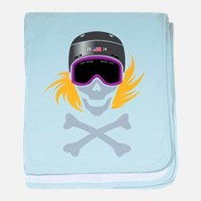 Lil' Snowboarder Skully baby blanket