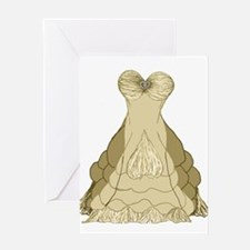 champagne ballgown wedding dress Greeting Cards