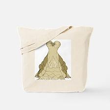 champagne ballgown wedding dress Tote Bag