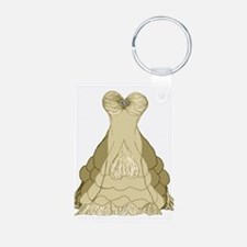 champagne ballgown wedding dress Keychains