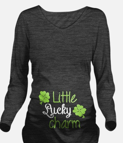 Little Lucky Charm Long Sleeve Maternity T-Shirt