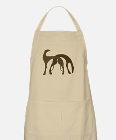 Hounds Silhouette Grooming Apron Brown