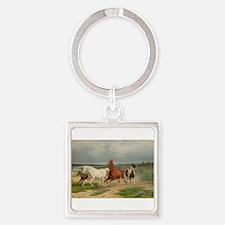 Wild Horses on the Run Keychains
