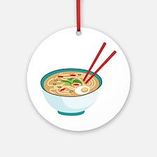 Pho Noodle Bowl Ornament (Round)