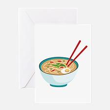 Pho Noodle Bowl Greeting Cards