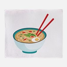 Pho Noodle Bowl Throw Blanket
