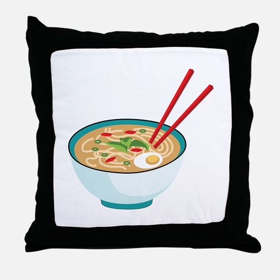 Pho Noodle Bowl Throw Pillow