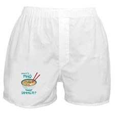 Whats Pho Dinner? Boxer Shorts
