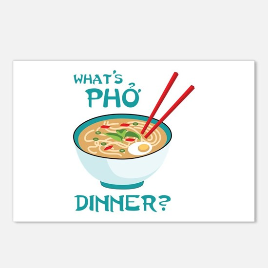 Whats Pho Dinner? Postcards (Package of 8)