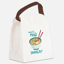 Whats Pho Dinner? Canvas Lunch Bag