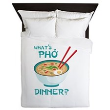 Whats Pho Dinner? Queen Duvet