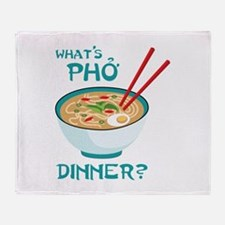 Whats Pho Dinner? Throw Blanket
