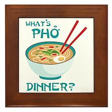 Whats Pho Dinner? Framed Tile