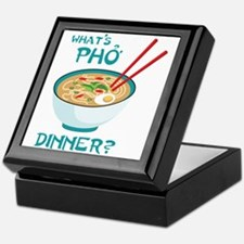 Whats Pho Dinner? Keepsake Box
