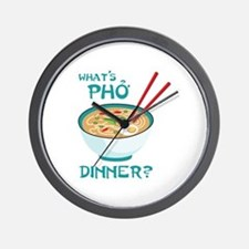 Whats Pho Dinner? Wall Clock