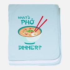 Whats Pho Dinner? baby blanket