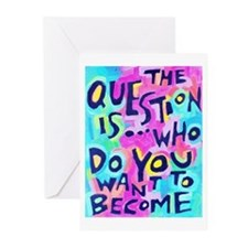 The Questions Is Who Do Greeting Cards (Pk Of 10)