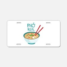 Pho Real. Aluminum License Plate