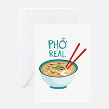 Pho Real. Greeting Cards