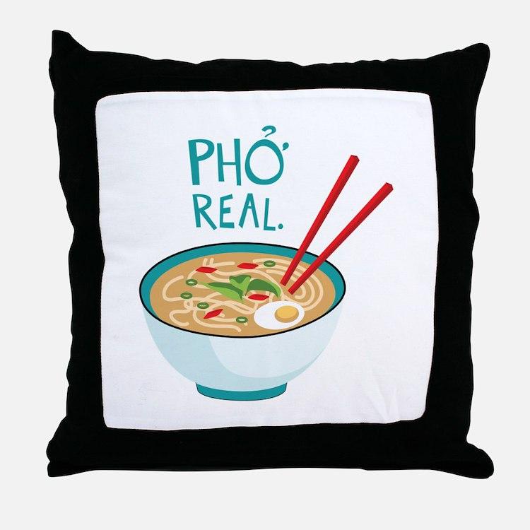 Pho Real. Throw Pillow