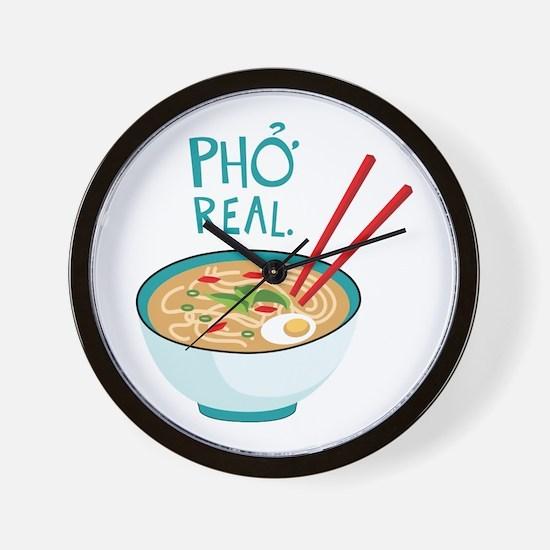 Pho Real. Wall Clock